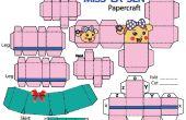 Comment faire Sen de La Miss en jupe papercraft.