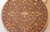 Aztec Pewter pièce de Laser gravé modèle