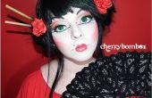 Maquillage avec grand cercle cristallins
