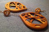 3D en couches plaqué boucles d'oreilles « Venearrings »