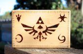 Boîte de Legend of Zelda pyrogravée