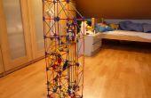 Chute libre ascenseur, ascenseur knex ball machine de filature