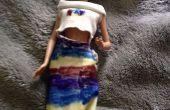 Poupée robe faite de chaussettes