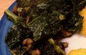 Sauté de chou frisé aux noix et champignons Shiitake