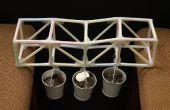 Pont à poutre triangulée 2 – pailles & Tape (un projet de défi)