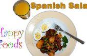 Chorizo espagnol facile, pomme de terre, oeuf, recette de salade de haricots