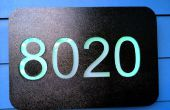 Maison LED numéros - changement couleur quotidienne - Arduino alimenté