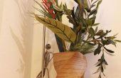 Vase hauteur plancher avec un twist