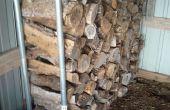 Bois de chauffage Rack-Trampoline réincarné