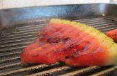 Melon d'eau sur le Grill
