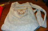Une (non-godzilla Sized) sac à main fait d'une vieille paire de Jeans