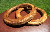 Authentique en bois gymnastique encore anneaux