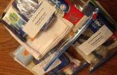 AidLeros « ce qui est dans mon sac? » Aide distribution packs - sac d'hygiène adulte.