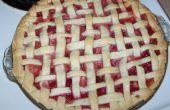 Tarte fraises rhubarbe maison