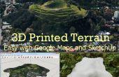 3D imprimé relief de Google Maps avec SketchUp