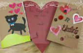 Circuit Saint Valentin carte de papier