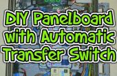 Panneau de disjoncteur DIY avec Automatic Transfer Switch (ATS), comptage et ordinateur de contrôle.
