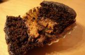 Mini de popper de beurre d'arachide au chocolat Cupcakes