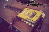 Guitare électrique avec boîte à cigares w / Built avec l'amplificateur