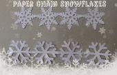 Flocons de neige chaîne de papier
