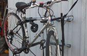 Vélo support repurposed comme stand de réparation de vélo