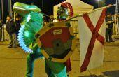 Costume de cavalier dragon lumineux / deguisement de jinete de dragón brillante