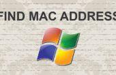 Comment trouver l'adresse mac sur Windows 7 avec easy