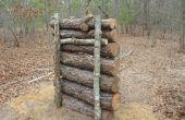 Wood log pare-balles tir