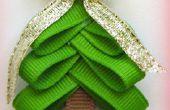 Arbre de Noël noeud pour cheveux Clip--étape par étape, des instructions