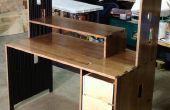 Bureau d'ordinateur bois massif pour seulement 50 $ de matériel !