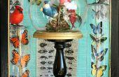 Oiseaux et papillons sous verre