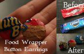 Bonbons / aliments Wrapper bouton boucles d'oreilles