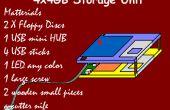 Unité de stockage USB hub dans des disquettes !