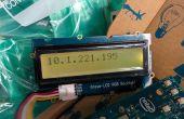 Afficher l'adresse de IP WiFi Intel Edison sur un rétro-éclairage RGB de Grove-LCD