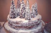 Gâteau forêt enneigée