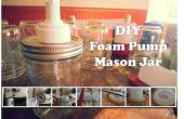 Distributeur de savon pompe Mason Jar de mousse