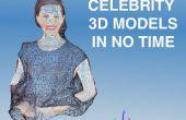 Célébrité des modèles 3D dans le temps sans