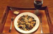 SQUID noir d'encre LINGUINE garnie d'un mélange de fruits de mer