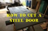 Comment découper et redimensionner une porte d'entrée plaquées acier