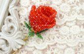 Comment faire un 3D rouge perlé Rose pour petite amie comme cadeau de Saint Valentin
