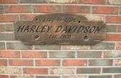Signe de rustique Harley Davidson