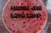 Lampe à lave chimique Mason Jar