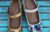 Star Wars C3PO et R2D2 chaussures peint !