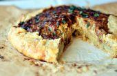 Caramélisés oignon tarte aux patates douces croûte Sage
