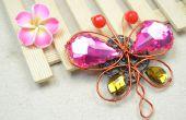 Emballage bijoux tutoriel sur l'apport d'une broche Vintage papillon avec des perles de fil