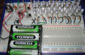 41 LED clignotant Circuit à l'aide de 555 IC