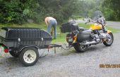 Construire une remorque derrière une moto ou petite voiture remorque