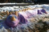 Comment créer un Dragon coloré de neige