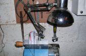 Pince sur 12 v Lampe Anglepoise pour tour à bois faite pour des trucs recyclés.