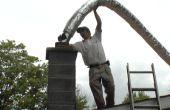 Installation de revêtement de cheminée flexible